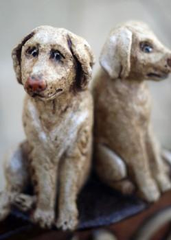 keramické figurky psů