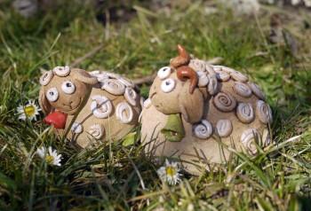 keramické ovečky dekorace