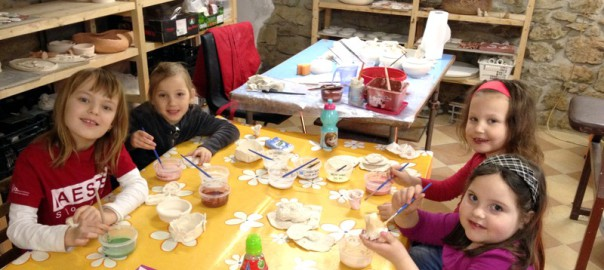 Keramika, kurzy, děti, dílnička, Polanská