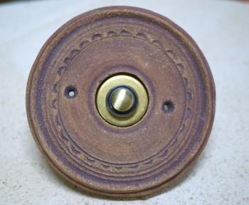 Domovní zvonek, keramický přírodní