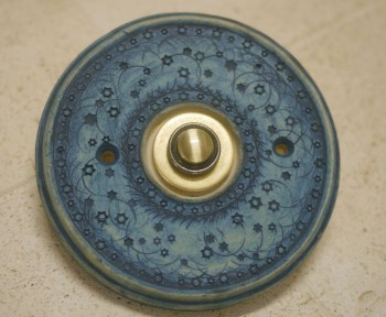 Keramický domovní zvonek, kobalt