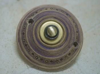 Domovní zvonek, keramika, mosaz, rustikální