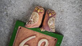 keramické domovní číslo znamení sovy lucie polanská 2