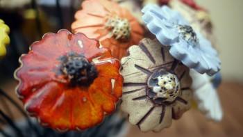 keramické květiny 3