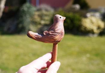keramický ptáček režný