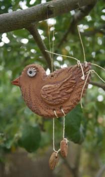 Keramický ptáček, závěs