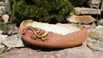 keramický květináč ještěrka mrazuvzdor lucie polanská nikilu 3