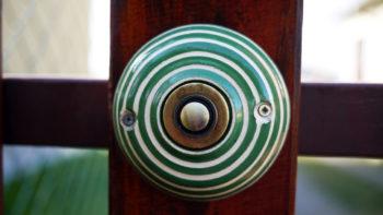 keramické zvonkové tlačítko klasik zelený Nikilu Lucie Polanská 2