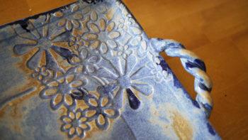 keramický tác štrudlak modry retro lucie polanska2