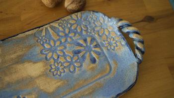 keramický tác podnos strudlak modry retro lucie polanská 7