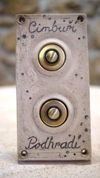 keramický domovní dvojzvonek znamení lucie polanská 2
