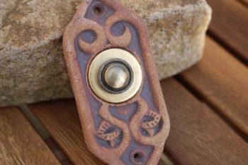 zvonkové tlačítko keramika mosaz mrazuvzdor Gaudí železo lucie polanská