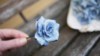 keramická růže malá lucie polanská9