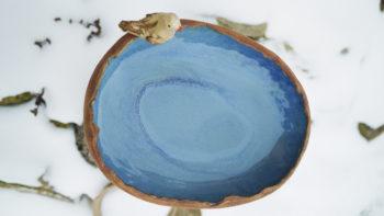 pítko pro ptáčky modrá keramika lucie polanská3